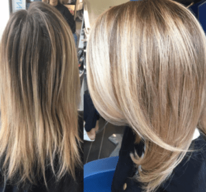 Lightening up using the balayage hair trend style by Urban Halo Salon.